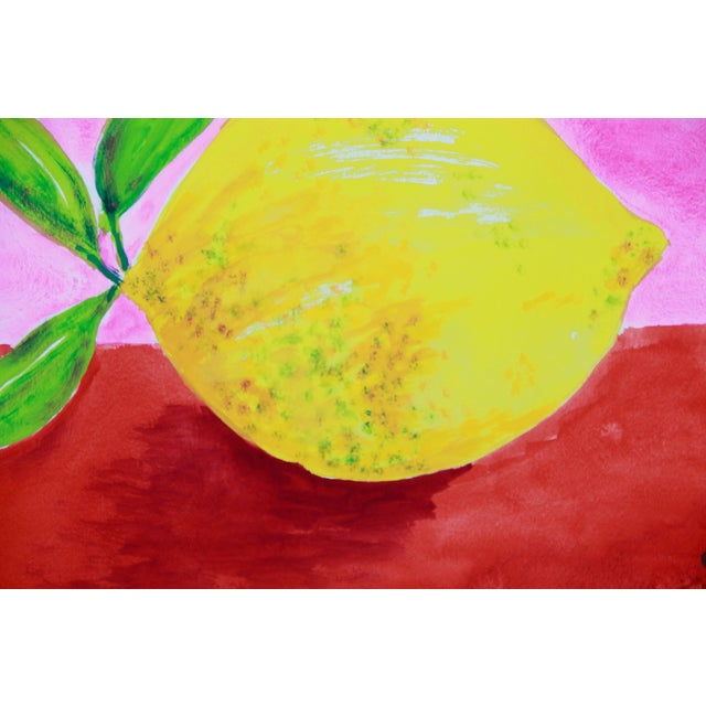 Lemon Abstract Still Life Painting by Cleo - Image 3 of 3