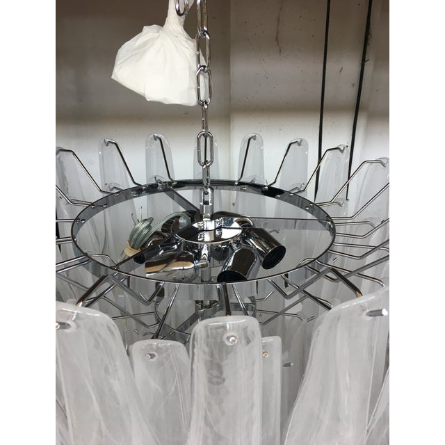 "2010s ""Selle Alabastro"" Mazzega Style Chandelier Murano Glass For Sale - Image 5 of 7"