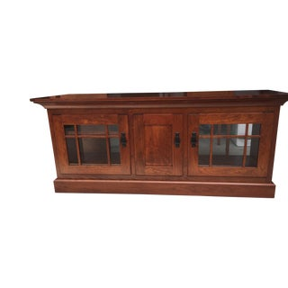 Arts & Crafts Style Maple Entertainment Center For Sale