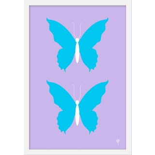"""Medium """"Butterfly Sky on Lilac"""" Print by Wendy Concannon, 17"""" X 21"""" For Sale"""