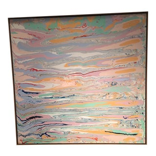 Abstract 'Palos Los Verdes' Oil Painting