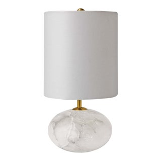 Alabaster Mini Orb Lamp For Sale