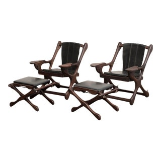 Don Shoemaker Lounge Chair and Ottoman Suite for Senal Sa, Mexico, 1960s - a Pair For Sale