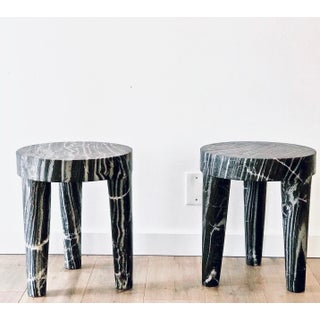 Post Modern Sculptural Marble Accent Table (2 Available) Preview