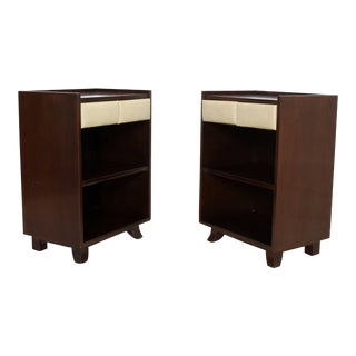 1930s Art Deco Gilbert Rohde for Herman Miller Mahogany Nighstands - a Pair