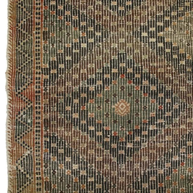 Earthy Vintage Turkish Flatweave Kilim - 6' X 9'6 - Image 2 of 6