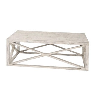 Modern Madame Ivory Wood X Coffee Table For Sale