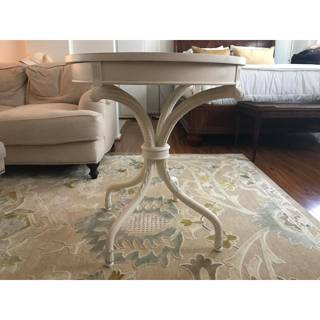 Painted White Bistro Side Table - Image 2 of 6