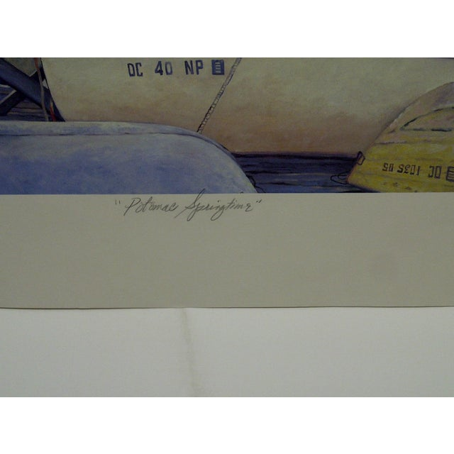 "Mary Anne Reilly 1985 ""Potamac Springtime"" Signed Print For Sale - Image 5 of 7"