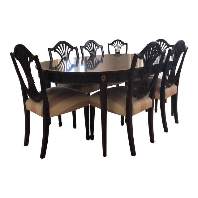 Pleasing Stickley Monroe Place Oval Dining Table Set Inzonedesignstudio Interior Chair Design Inzonedesignstudiocom