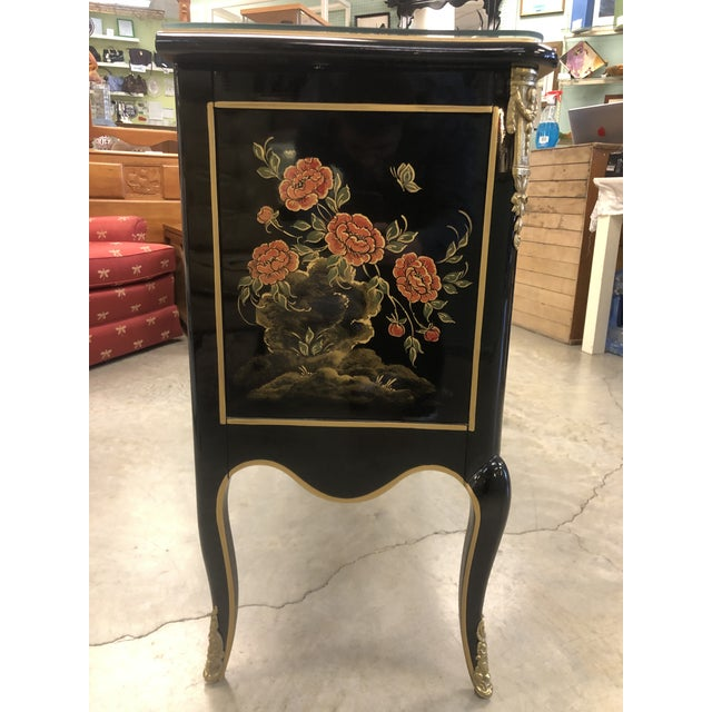 1970s Chinoiserie Lacquered 2-Drawer Chest For Sale In Boston - Image 6 of 13