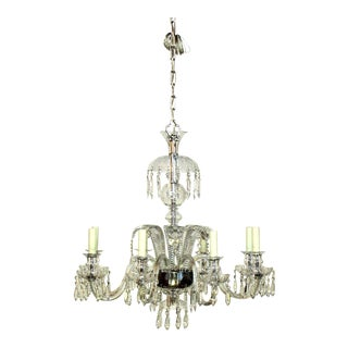 Crystal Chandelier With Ostrich Feather Plumes For Sale
