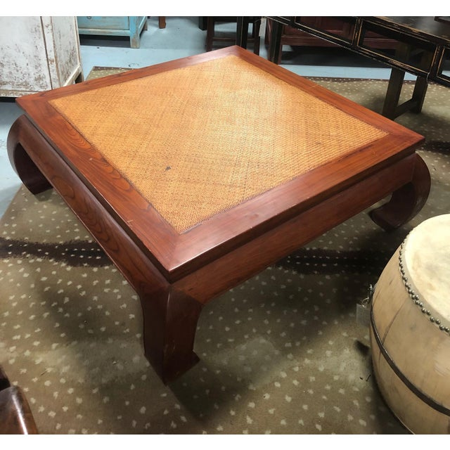 Brown 20th Century Ming Style Cane Top Coffee Table For Sale - Image 8 of 8