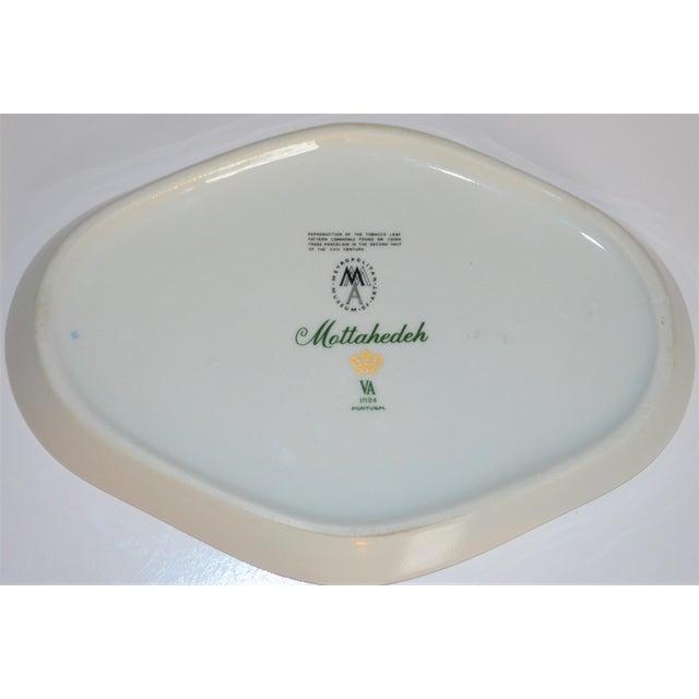 1990s Vintage Mottahedeh Tobacco Leaf Porcelain Oval Tray For Sale - Image 5 of 8