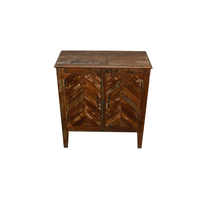 Reclaimed Wood Rustic Nightstand - Image 2 of 3