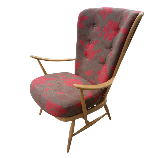 Vintage Ercol High Back Armchair For Sale