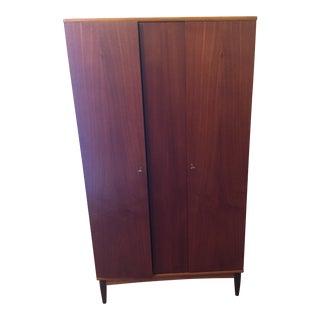 Mid-Century Modern Teak Wardrobe For Sale