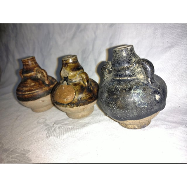Rustic Ancient Thai Oil Jars - Set of 3 For Sale - Image 3 of 8