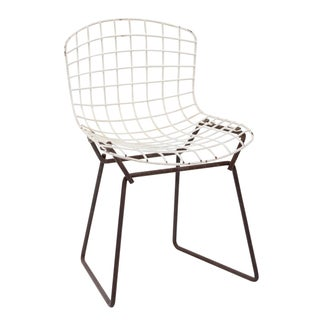 Knoll Bertoia Child Size Chair Black/White For Sale
