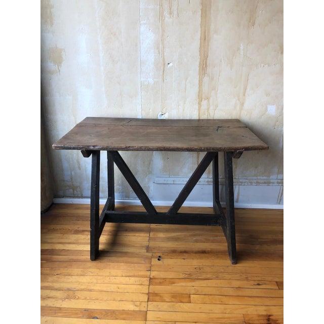 17th Century 17th Century Italian Antique Trestle Table For Sale - Image 5 of 12