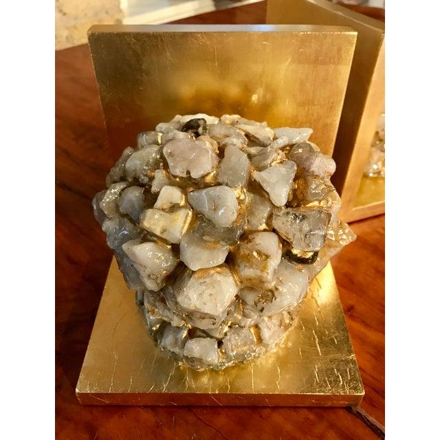 Quartz Stone Gold Leaf Bookends - A Pair - Image 6 of 9