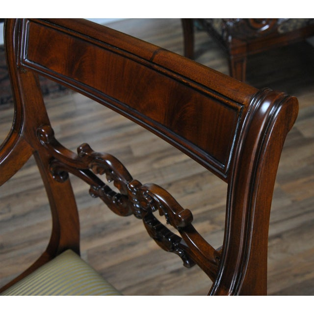 Philadelphia Empire Arm Chair - a Pair For Sale - Image 10 of 13
