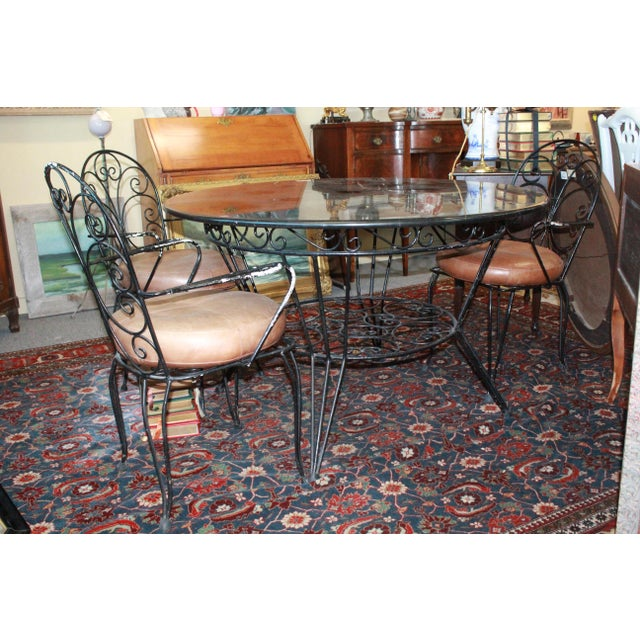 1940s 20th Century Art Nouveau Dining Set - 5 Pieces For Sale - Image 5 of 8