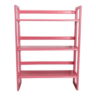 Vintage Pink Folding Bookshelf For Sale