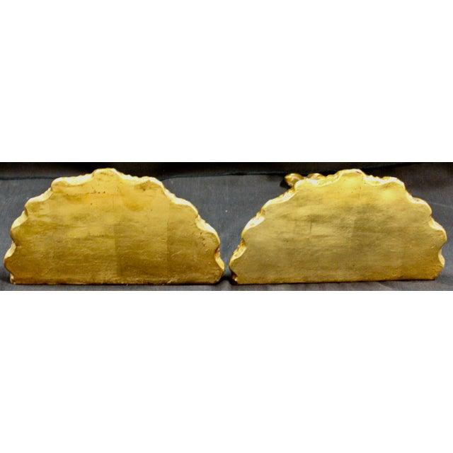 Gilded Plaster Wall Brackets - a Pair | Chairish