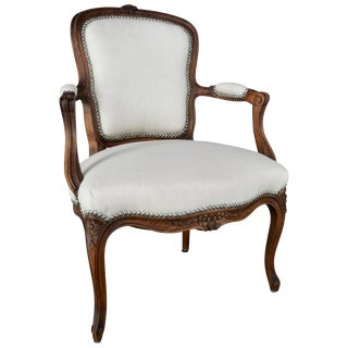 Late 19th Century French Rococo Fauteil For Sale