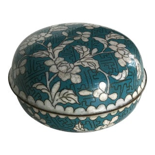 Early 20th Century Antique Chinese Cloisonné Lidded Trinket Box For Sale
