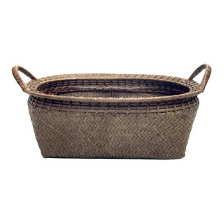 Woven Bamboo Basket For Sale