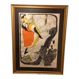 Henri De Toulouse-Lautrec's 1920s Vintage Jane Avril Poster For Sale