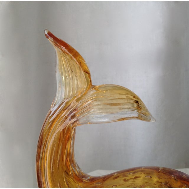 Italian Murano Amber & Gold Dust Fish For Sale - Image 10 of 11