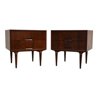 Rosewood Nightstands by Svante Skogh for Seffle - a Pair For Sale