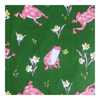 Vintage Schumacher Froggy Palm Peach Fabric - 20 Yards For Sale