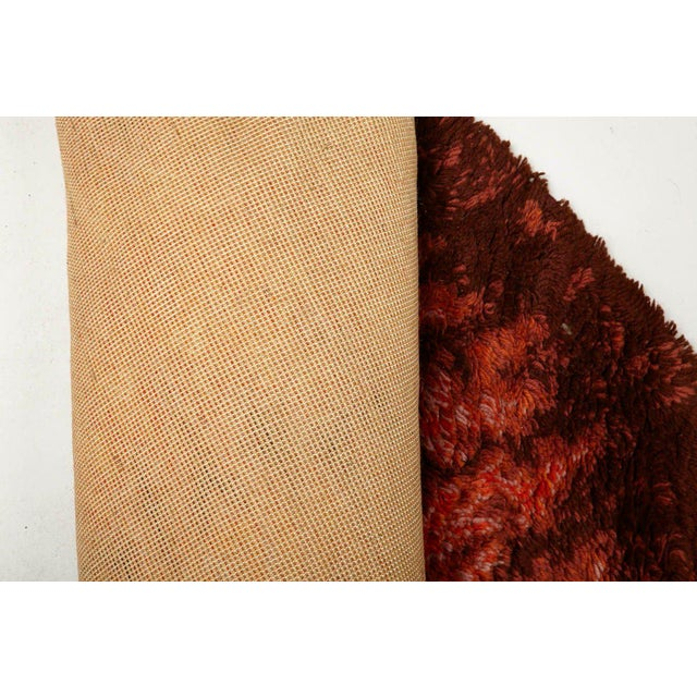 Mid-Century Modern Modernist Scandinavian Rya Carpet For Sale - Image 3 of 4