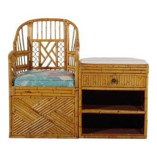 Split Bamboo Brighton Telephone Chair For Sale