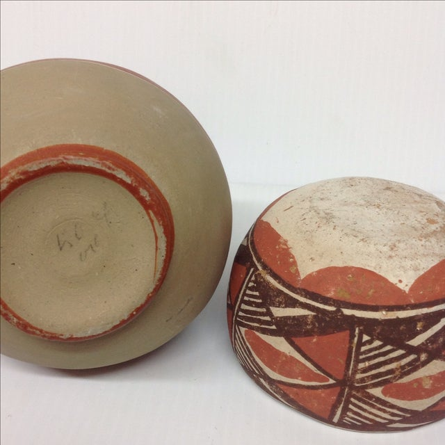 Mid-Century Native American Pottery Vase & Bowl - Image 3 of 5