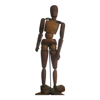 19th Century French Wooden Lay Figure Sculpture For Sale