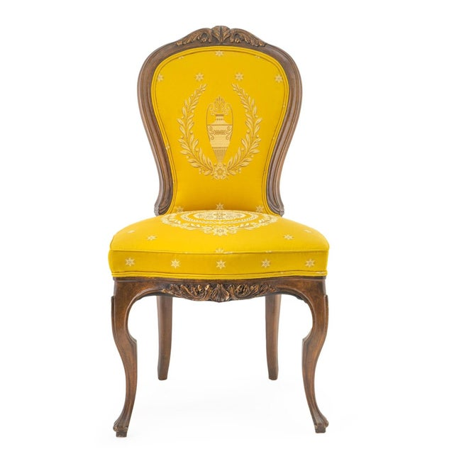 Rococo Antique French Rococo Style Walnut Side Chairs - Set of 4 For Sale - Image 3 of 4