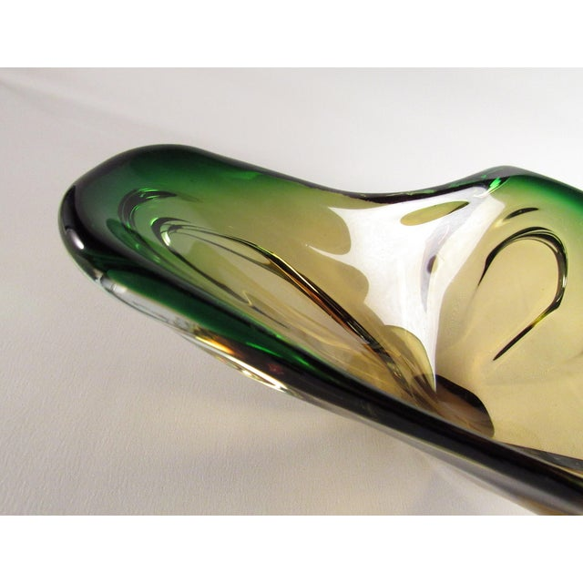 Murano Mid-Century Murano Glass Centerpiece Bowl For Sale - Image 4 of 10