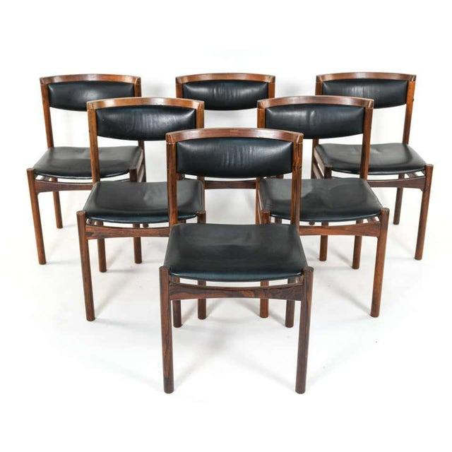 Six Mid-Century Modern Danish Dining Chairs, Soro Stolefabrik Denmark, Rosewood For Sale - Image 4 of 13