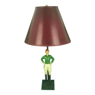 "1950s Vintage ""21"" Club Jockey Lamp For Sale"
