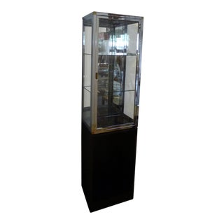 Modern Glass & Oak Stacked Display Case For Sale