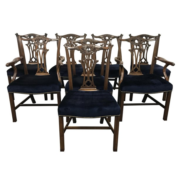Chippendale Style Chairs - Set of 8 - Image 1 of 11