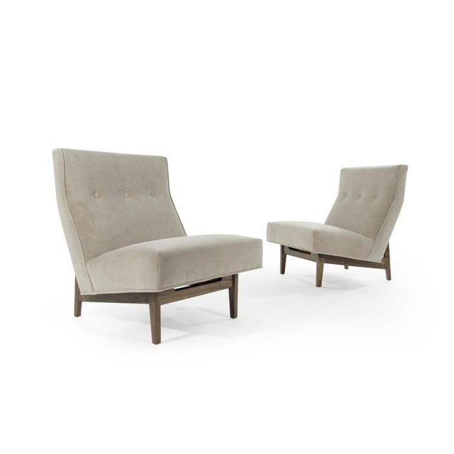 Mid 20th Century Classic Slipper Chairs by Jens Risom C. 1950s - a Pair For Sale - Image 5 of 12