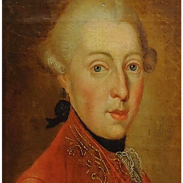 """18th Century 18th Century """"Ferdinand DI Borbone, King of Naples"""" Oil Painting For Sale - Image 5 of 10"""