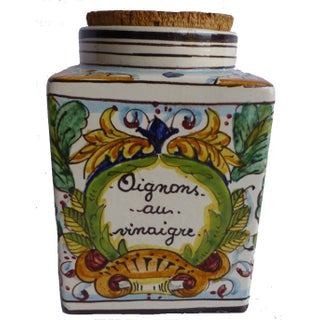 Mid-Century French Ceramic Jar For Sale