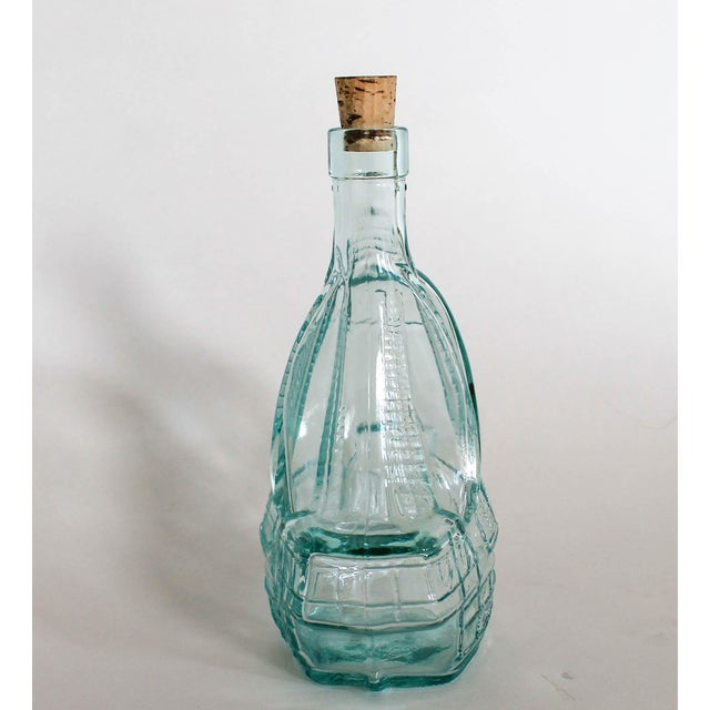Nautical Glass Sailboat Bottle For Sale - Image 3 of 6